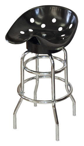 Steel Pan Tractor Seat Bar Stool (Black)