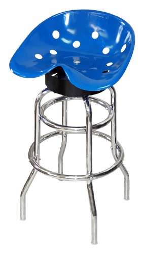 Steel Pan Tractor Seat Bar Stool (Blue)