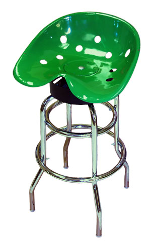 Steel Pan Tractor Seat Bar Stool (Green)