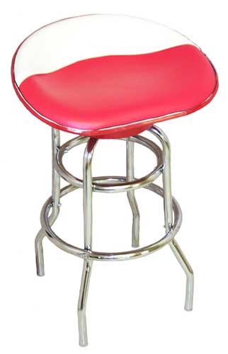 Farmall Tractor Seat Bar Stool (Red & White Vinyl)