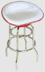 Farmall Tractor Seat Bar Stool (Silver Canvas)