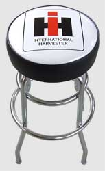 Authentic International Harvester Logo Bar Stool
