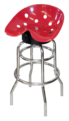 steel pan tractor seat bar stool red