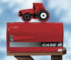 Case IH Rural Style Mailbox with Tractor Topper