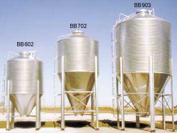 Hopper Bottom Grain Bins
