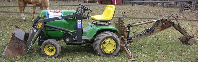 Farm Equipment For Sale John Deere 317 Back Hoe Front Loader