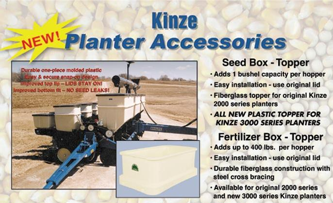 Kinze Planter Seed Box Toppers