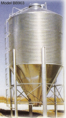 Hopper Bottom Grain Storage Bins
