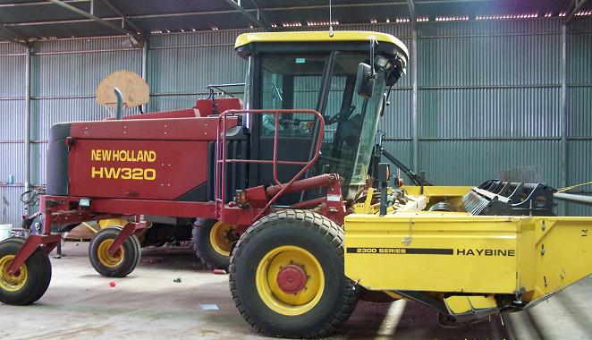 Farm Equipment For Sale: New Holland Swather H-W 320