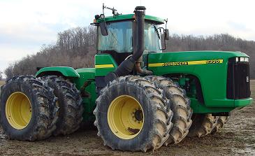John Deere 9300 Tractor right view