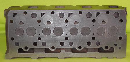 New Kubota V2203 Cylinder Head (complete) Indirect Injection (Bottom View)