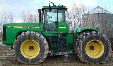 John Deere 9300 Tractor left view